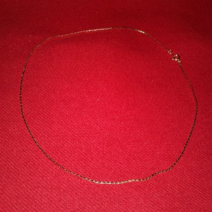 """1mm 20"""" Gold-plated Cobra Chain overview"""