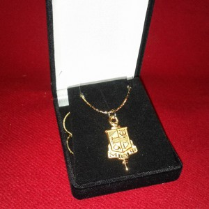 Brothers Key Pendant with Chian closeup