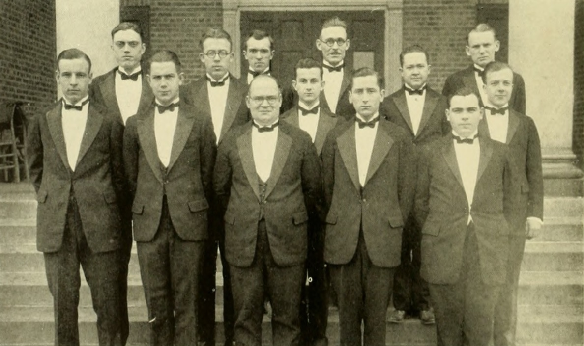 Founding Brothers of Mu Beta Psi with Percy W. Price, November 1925.