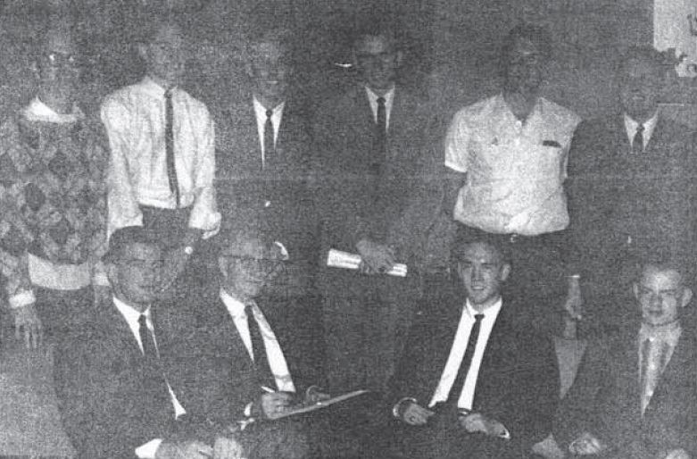 Brothers at the 1961 National Convention, hosted by Delta Chapter at Clemson University.