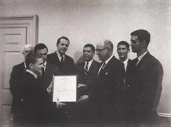 Epsilon Chapter Charter Presentation, dated April 11, 1965.